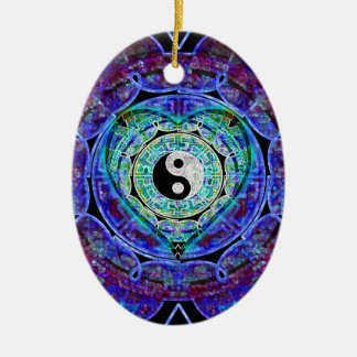Yin Yang Energy Flow Christmas Ornament