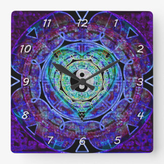 Yin Yang Energy Flow Square Wall Clock