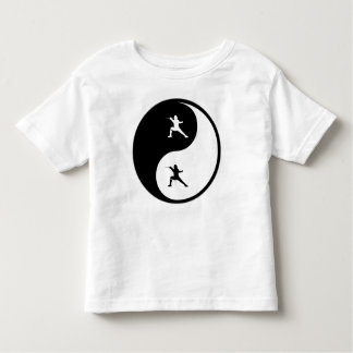 Yin Yang Fencing Toddler T-Shirt
