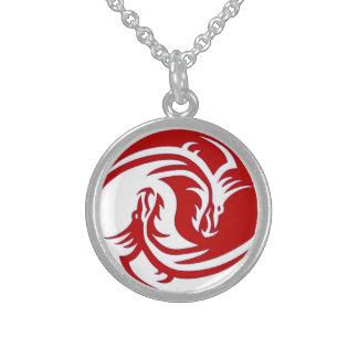 Yin Yang Fierce Dragons 2 Necklace