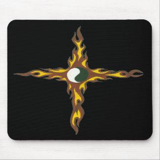 Yin Yang Fire Cross Mouse Pads