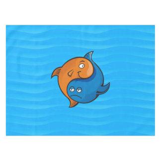Yin Yang Fish Cartoon Tablecloth