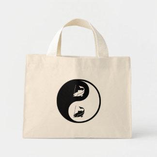 Yin Yang Fishing Tote Bags