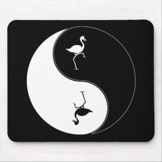 Yin Yang Flamingo Mouse Pad
