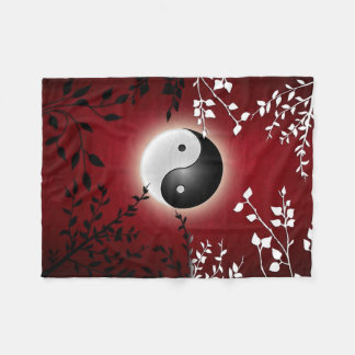 Yin Yang Fleece Blanket