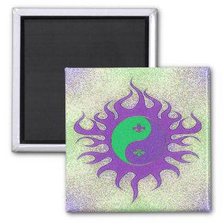 Yin Yang Fleur De Lis Magnet