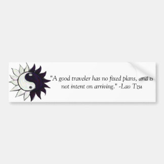 Yin-Yang flower and Lao Tzu quote Bumber Sticker Bumper Sticker