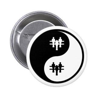 Yin Yang Foosball 6 Cm Round Badge
