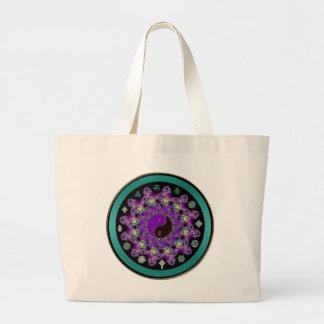 Yin-Yang Fractal Mandala Celtic Mystical Tote Bag Jumbo Tote Bag