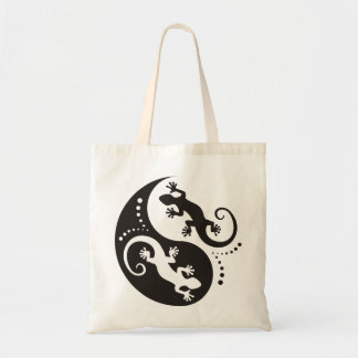 YIN & YANG Geckos black + your background & idea Budget Tote Bag