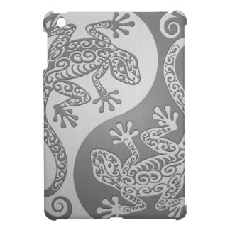 Yin Yang Geckos, Stainless Steel Effect iPad Mini Cases