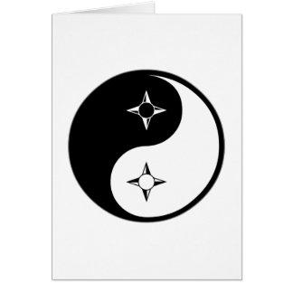 Yin Yang Geography Card