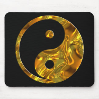 Yin & Yang GOLD | black Mouse Pad