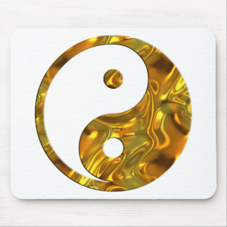 Yin & Yang GOLD | make your own background Mouse Pad