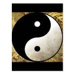 Yin Yang Gold Post Cards