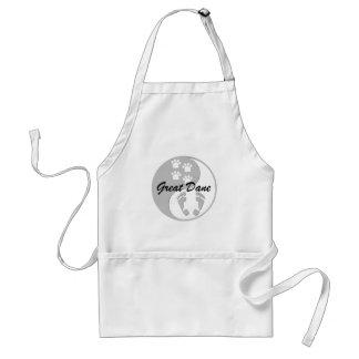 yin yang great dane standard apron