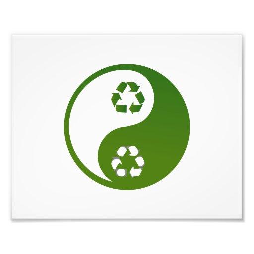 yin yang green recycle ecology theme.png photo