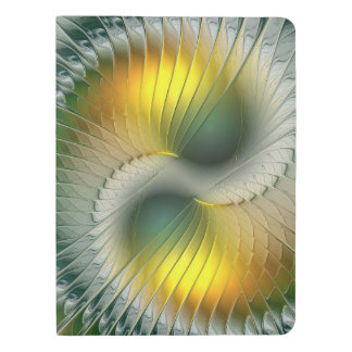 Yin Yang Green Yellow Abstract Colorful Fractal Extra Large Moleskine Notebook