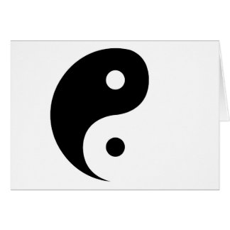 Yin Yang Greeting Card