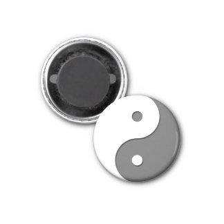 Yin Yang - grey 1 3 Cm Round Magnet