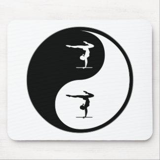Yin Yang Gymnastics Mouse Pads