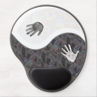 Yin Yang Hands Gel Mousepad+gift Gel Mouse Mat