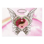 Yin Yang Heart Angel Wings Watercolor Pack Of Chubby Business Cards