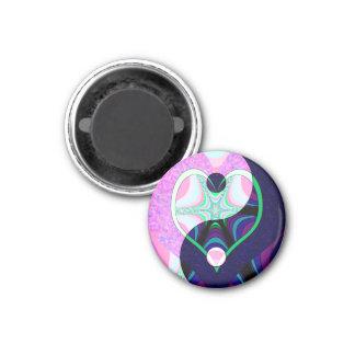 Yin Yang Heart Magnet
