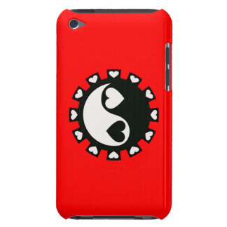 YIN YANG HEARTS BLACK & WHITE BARELY THERE iPod COVERS