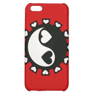 YIN YANG HEARTS BLACK & WHITE iPhone 5C COVERS
