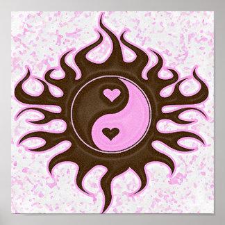 Yin Yang Hearts Poster