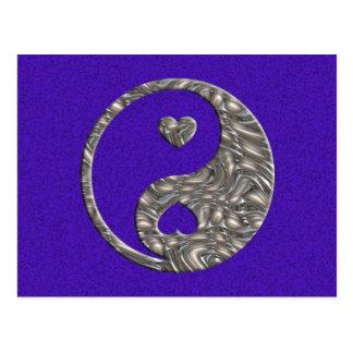 Yin Yang Hearts SILVER Post Cards