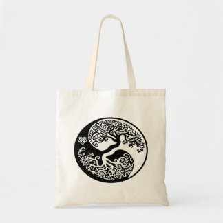 Yin-Yang Hippie Tree Tote Bag