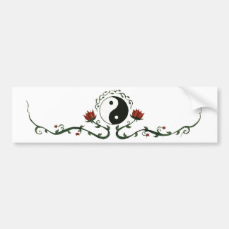 Yin Yang In Nature Bumper Sticker