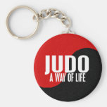 Yin Yang JUDO 1 Basic Round Button Key Ring