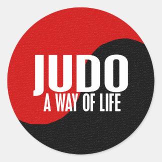 Yin Yang JUDO 1 Classic Round Sticker