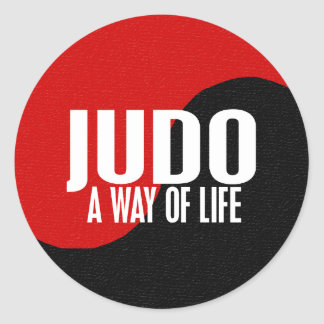 Yin Yang JUDO 1 Round Sticker