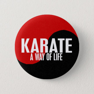 Yin Yang Karate 1 6 Cm Round Badge
