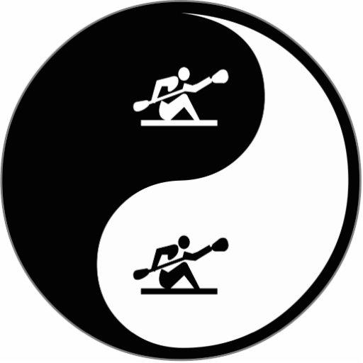 Yin Yang Kayaking Photo Cut Out