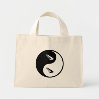 Yin Yang Keyboard Canvas Bags