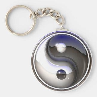 Yin/yang keychain