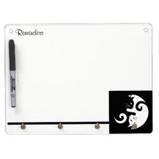 Yin Yang Kitties Dry Erase Board With Key Ring Holder