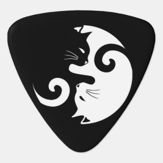 Yin Yang Kitties Guitar Pick
