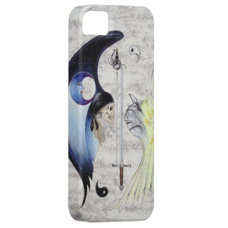 Yin & Yang Knight & Skull Fantasy Iphone Five Case Case For The iPhone 5