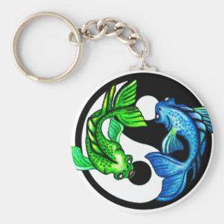 Yin-Yang Koi Design Key Ring