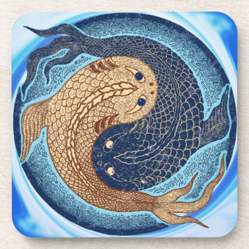 Koi yin yang gifts t shirts art posters other gift for Koi fish gifts