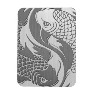 Yin Yang Koi Fish with Stainless Steel Effect Magnet