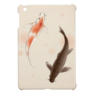 Yin Yang Koi fishes in oriental style painting Cover For The iPad Mini