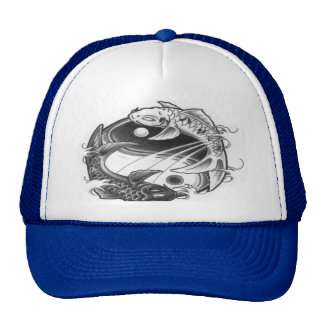 yin yang koi hat