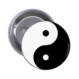 Yin Yang large 6 Cm Round Badge